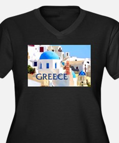 Blinding White Buildings in Greece Plus Size T-Shi