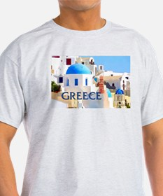 Blinding White Buildings in Greece T-Shirt