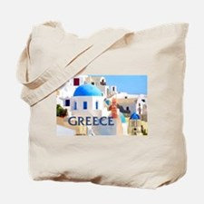 Blinding White Buildings in Greece Tote Bag
