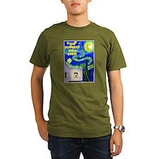 Starry Night Over Organic Men'S T-Shirt (Dark) Org