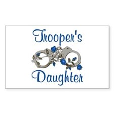 Trooper's Daughter Rectangle Decal