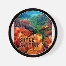 Hoodoos in Bryce Canyon National Park Wall Clock