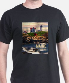 Cape Neddick Lighthouse Maine at Sunset T-Shirt