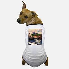 Cape Neddick Lighthouse Maine at Sunset Dog T-Shir