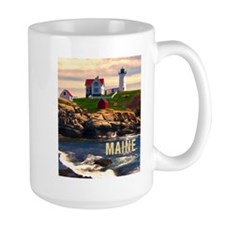 Cape Neddick Lighthouse Maine at Sunset Mugs