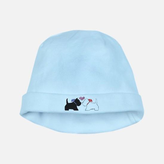 Westie Dog Art baby hat