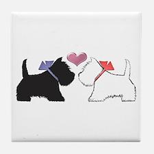 Westie Dog Art Tile Coaster
