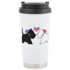 Westie Dog Art Travel Mug