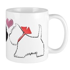 Westie Dog Art Mugs