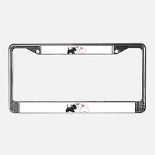 Westie Dog Art License Plate Frame