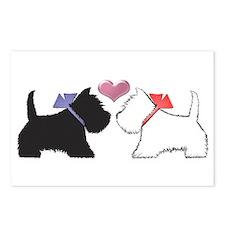 Westie Dog Art Postcards (Package Of 8) Postcards
