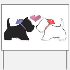 Westie Dog Art Yard Sign