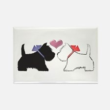 Westie Dog Art Rectangle Magnet