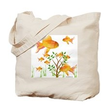 Gold Fish Bowl Tote Bag