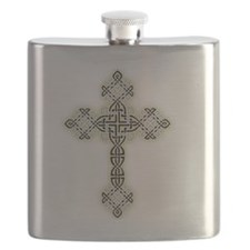 Celtic Knot Cross Flask