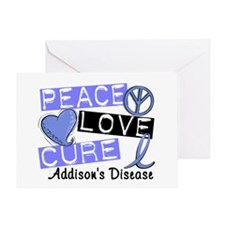 Peace Love Cure 1 Addison's Greeting Card