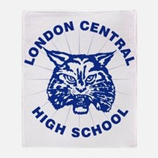 LCHS Bobcat with Round Text Throw Blanket
