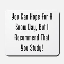 You Can Hope For A Snow Day, But Id Study! Mousepa