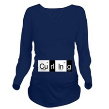 Curling Elementally Long Sleeve Maternity T-Shirt