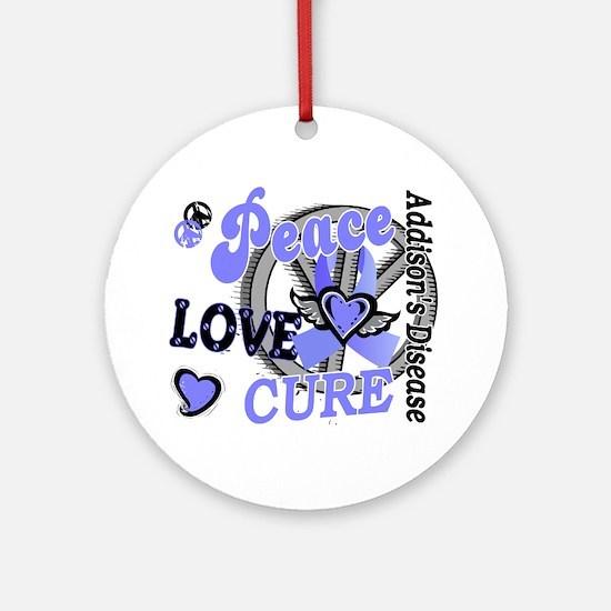 Peace Love Cure 2 Addison's Ornament (Round)