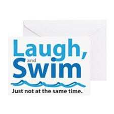 Laugh and Swim Greeting Card