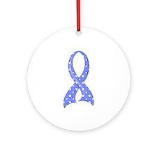 Addison's Polka Dot Ribbon Ornament (Round)
