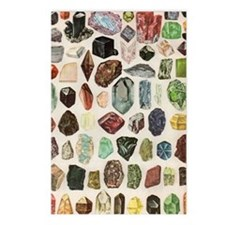 Vintage Geology Rocks Gem Postcards (Package of 8)