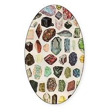 Vintage Geology Rocks Gems Gemstone Decal