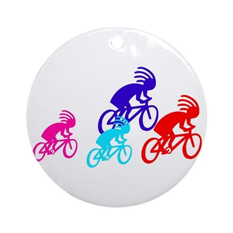 Biking Family Ornament (Round)