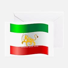 Parsa-Lion-Flag4 Greeting Cards (Pk of 10)