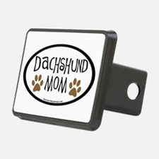 Dachshund Mom Oval Hitch Cover