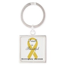 Microcephaly Awareness Square Keychain