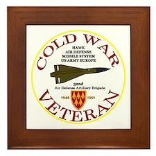 Cold War Hawk Europe Framed Tile
