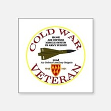 "Cold War Hawk Europe Square Sticker 3"" X 3&am"