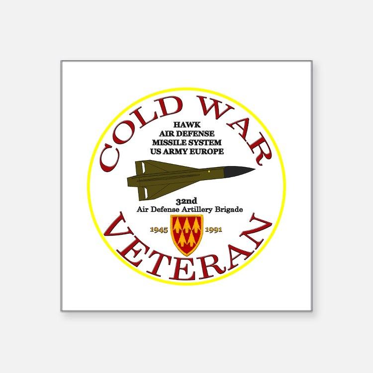 """Cold War Hawk Europe Square Sticker 3"""" X 3&qu"""