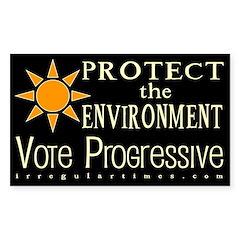 Environment: Vote Progressive Bumper Decal