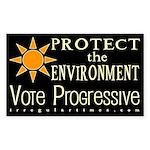 Environment: Vote Progressive Bumper Sticker