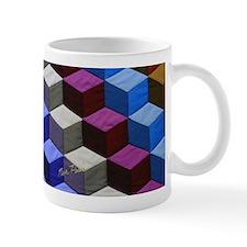 3-D Block Quilt Mugs