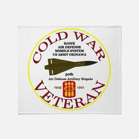 Cold War Hawk Okinawa Throw Blanket