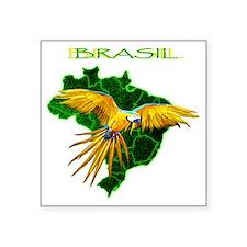 "Brasil - Arara Square Sticker 3"" x 3"""