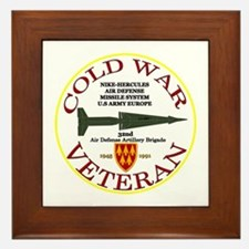 Cold War Nike Hercules Europe Framed Tile