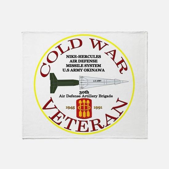 Cold War Nike Hercules Okinawa Throw Blanket