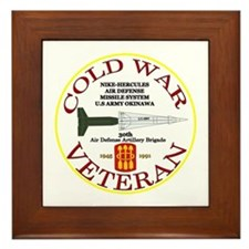 Cold War Nike Hercules Okinawa Framed Tile