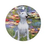 Lilies2-Bull Terrier (P) Ornament (Round)