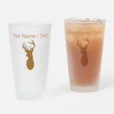 Custom Brown Buck Hunting Trophy Silhouette Drinki