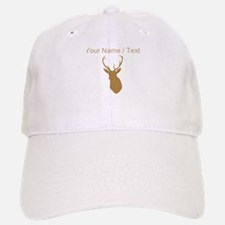 Custom Brown Buck Hunting Trophy Silhouette Baseba