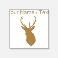 Custom Brown Buck Hunting Trophy Silhouette Sticke