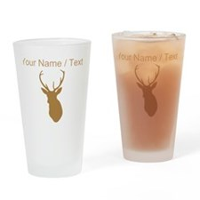 Custom Brown Buck Hunting Trophy Silhouette Drinki