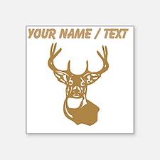 Custom Brown Buck Head Sticker