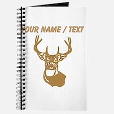 Custom Brown Buck Head Journal